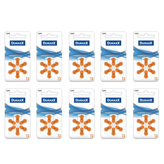 Duraxx 13 Numara İşitme Cihazı Pili 6x10 (60 adet)