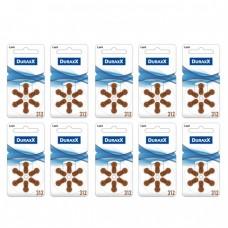 Duraxx 312 Numara İşitme Cihazı Pili 6x10 (60 adet)