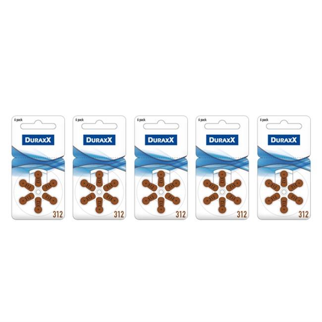Duraxx 312 Numara İşitme Cihazı Pili 6x5 (30 adet)