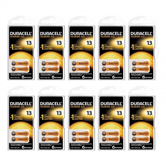 Duracell Activair 13 Numara İşitme Cihazı Pili 6x10 (60 adet)