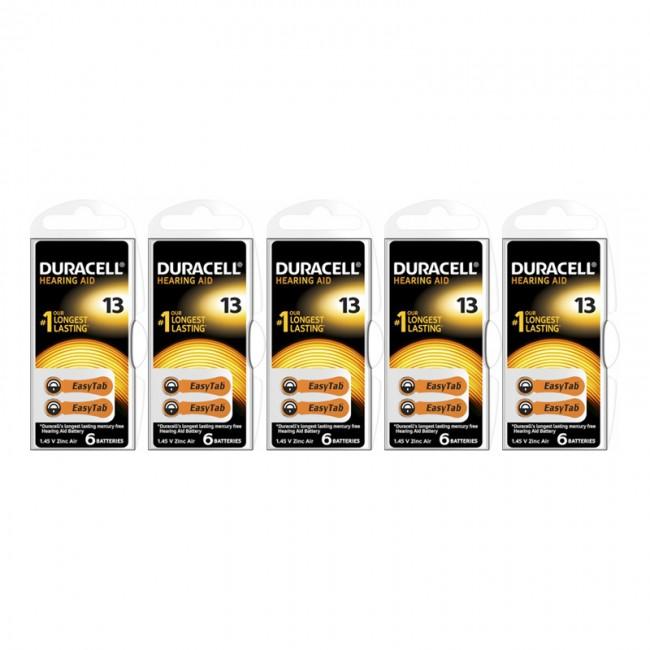 Duracell Activair 13 Numara İşitme Cihazı Pili 6x5 (30 adet)