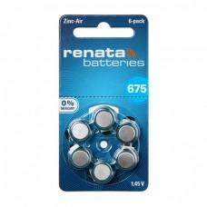 Renata 675 Numara İşitme Cihazı Pili